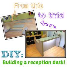 diy building a reception desk
