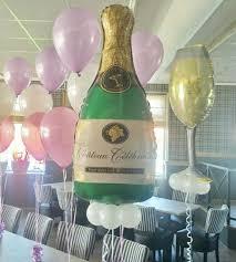 Champagne Bottle Balloon Decoration