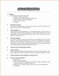 Internship Report Sample Acknowledgement Save Best Letter For