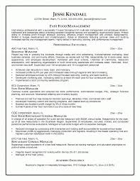 Fast Food Resume Wonderful Fast Food Manager Resume Sample Eczasolinfco