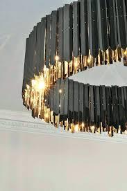 chandeliers contemporary lighting chandelier black modern facet nickel project fix