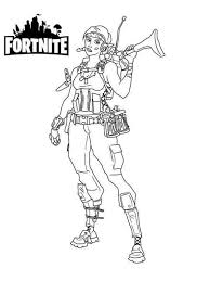Fortnite Coloring Black And White Printable Kids Birthday Party In