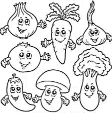 Small Picture Vegetables Coloring Pictures For Preschoolers All Pilular