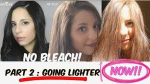 diy lighten dark hair without added bleach part two going lighter