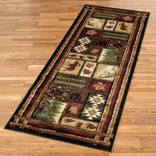 bear paw print rugs fresh cabin chalet rustic rug runner