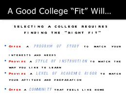 College admissions powerpoint