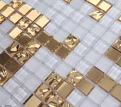 gold and cream mirrored glass mosaic tile murals frosted crystal collages backsplash bravotti com