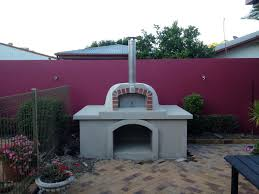 traditional exterior pizza oven kit on counter outdoor stone ovens concrete
