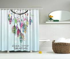 dream catcher shower curtain set fabric non vinyl stall liner indian shower curtain native feathers design