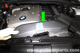 bmw e90 drive belt replacement e91 e92 e93 pelican parts diy large image