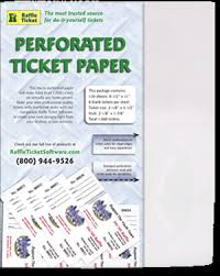 Perforated Raffle Ticket Sheets White Bond Perforated Ticket Paper Raffle Ticket Softwares