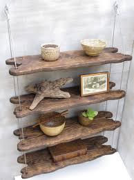 driftwood shelves, display shelving, shelving system,wall shelves, pottery  shelf by designershelving on Etsy