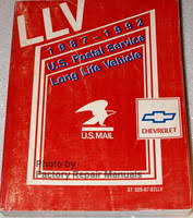 1994 chevy us mail postal truck van service manual llv long life llv 1987 1992 u s postal service long life vehicle service manual