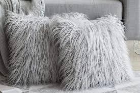 faux fur gy cushion cover deal