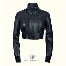 womens vitto machiavelli mini leather jacket
