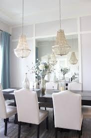 dining room mirror wall frills