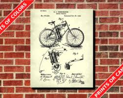 items similar to vintage motor cycle 1972 honda cb 160 chrome rear pennington motorcycle patent print vintage motor cycle poster workshop decor pennington motorbike blueprint