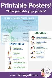 Fun And Easy Yoga Poses For Kids Printable Posters Pin