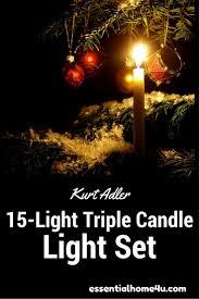 Kurt Adler Christmas Tree Candle Lights Kurt Adler 15 Light Triple Candle Light Set With Ivory