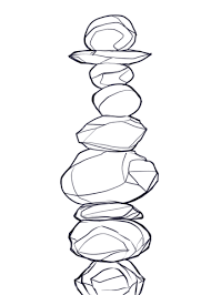 balanced rocks coloring page
