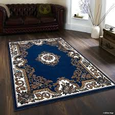 blue brown rug navy blue brown woven printed vintage rug blue rug with brown leather couch