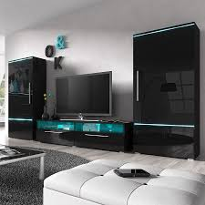 Meuble Salon Noir Laqu Meuble Tv Meuble Tv Fabio Mdf Laqu Noir