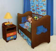 Picture Of Unique Wooden Toddler Bed Design For Boys And Blue ...