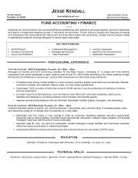 Example Fundraising Accountant Resume Free Sample Fund Objective