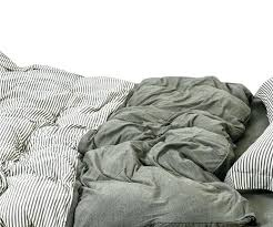 olive green cotton duvet cover ticking striped duvet cover set twin queen college jersey bedding by