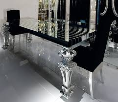 black and silver furniture. black and silver dining room set designs furniture