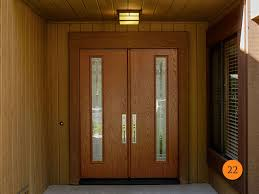 modern double entry doors. After: Modern 30 Inch Fiberglass Double Entry Doors With 5 Foot Entrance. Therma Tru E