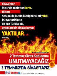 Sivas Katliamı Eğitim-İş Çanakkale Şubesi