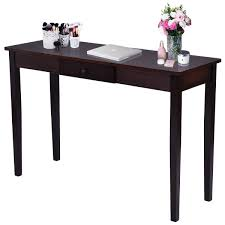 table for entryway. Costway Console Table Entry Hallway Entryway Side Sofa Accent Drawer Wood - Ships To Canada Overstock 24865801 For G
