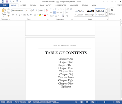 How To Make A Linked Table Of Contents For Kindle Ebooks