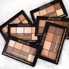 makeup revolution lipstick hairstyle newness ultra pro hd powder contour palettes and cream contour palettes