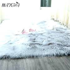 giant faux fur rug faux fur rug white architecture grey faux fur rug within area caramel