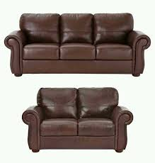 littlewoods cassina 3 2 seater chestnut brown italian leather sofas