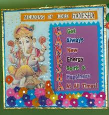 Ganesha Means School Board Decoration Classroom Charts