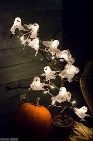 diy halloween lighting. DIY Ping Pong Ball Ghost Lights With Spooky Halloween Tree   UnOriginalMom.com Diy Lighting