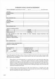 Sample Parking Lease Agreement - Resume Template Ideas