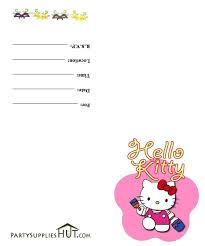 Hello Kitty Printable Birthday Invitations Hello Kitty Printable