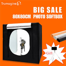trumagine 80 80 80cm photo studio softbox light tent lightbox photography shooting light box