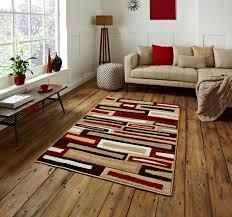 stylish modern matrix brick effect rug machine made contemporary