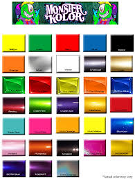 Yellow Car Paint Chart Rare House Of Colors Chart House Of Kolor Color Chart