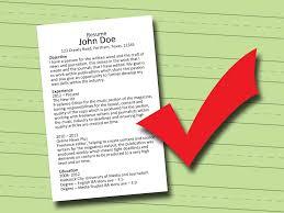 Ways To Write A Resume