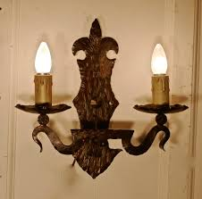 Arts And Crafts Wall Lights Superb Pair Of French Arts And Crafts Gothic Iron Wall