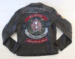 image is loading men rare ed hardy leather sword skull jacket
