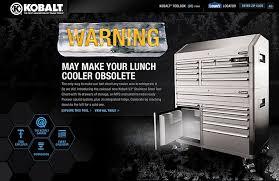kobalt tool box with radio page 1