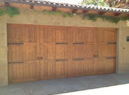 here is a great variation of our madden 3000c series stain grade garage door with a unique appearance