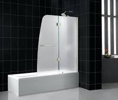 glass tub door aqua tub door frosted glass frameless hinged glass tub doors